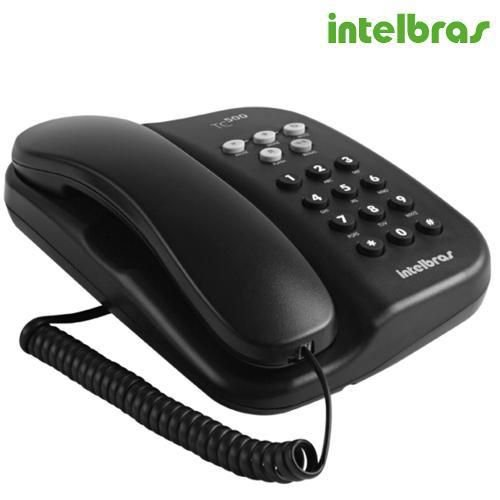 Telefone Com Fio TC 500 com Chave Grafite - Intelbras