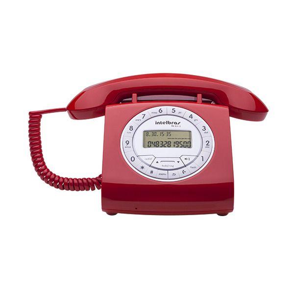 Telefone Com Fio TC 8312 Vermelho - Intelbras