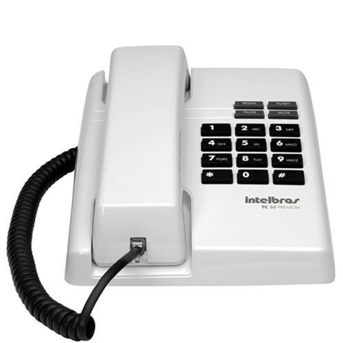 Telefone Com FioTC 50 Premium Cinza Ártico - Intelbras