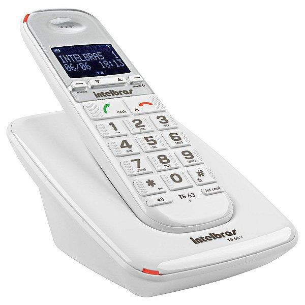 Telefone Sem Fio TS 63 V Branco - Intelbras