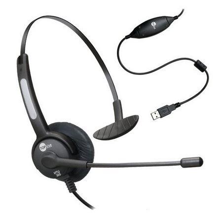 Headset HTU-300 USB Bi Auricular ou Abafador