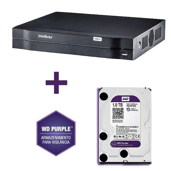 Stand Alone 16 Canais Multi -HD MHDX 1016 com HD 1TB - Intelbras
