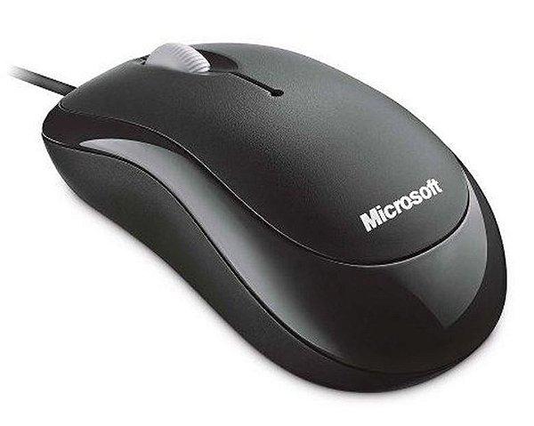 Mouse Óptico Microsoft 3 Botões Scroll P58-00061 Preto