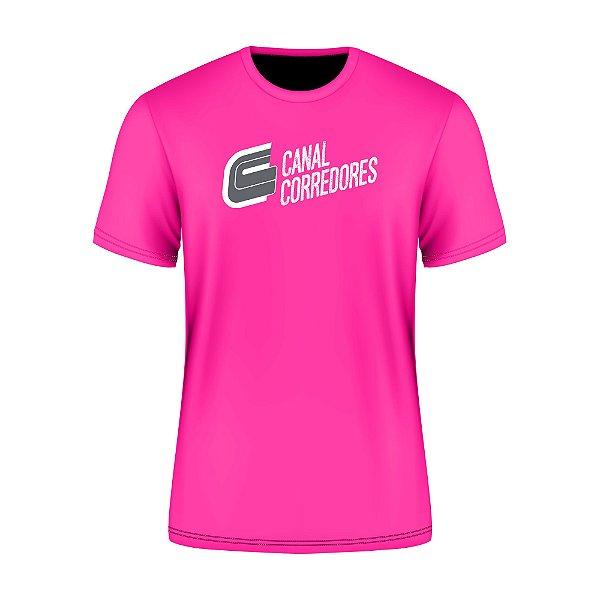 Camiseta Masculina Treino Rosa Canal Corredores