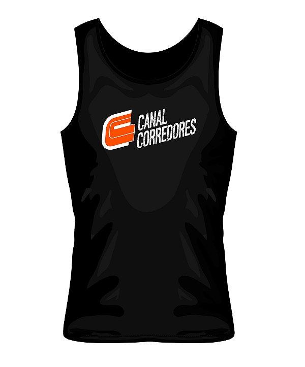 Camiseta Regata Masculina Preta Canal Corredores