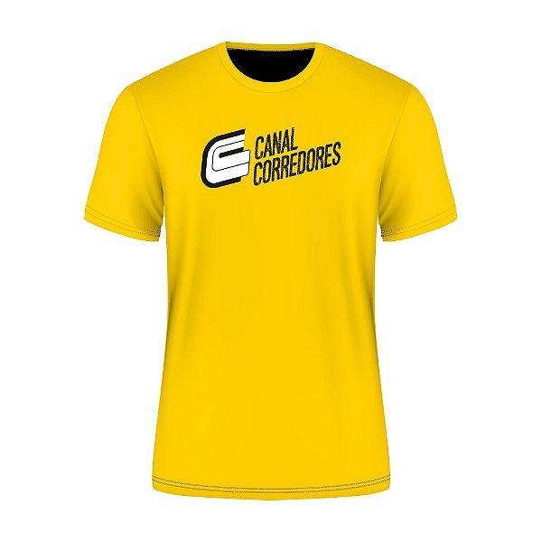 Camiseta Masculina Treino Amarela Canal Corredores