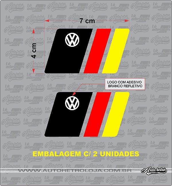 Adesivo VW Bandeira Alemanha (par) (2unidades)