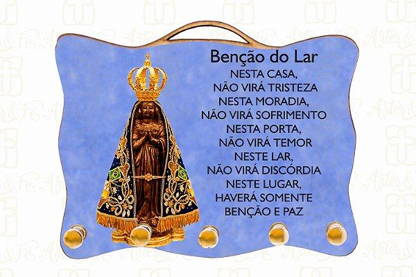 Porta Chaves Nossa Senhora Aparecida com Benção do Lar
