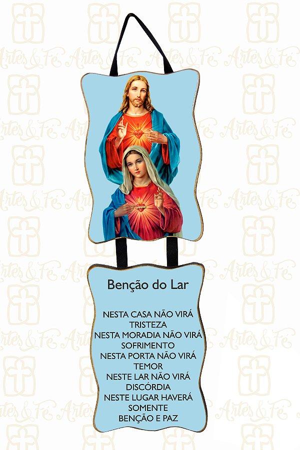 Adorno Sagrado Coração de Jesus e Maria
