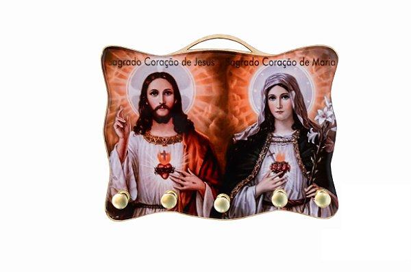 Porta Chaves Sagrado Coração de Jesus e Maria