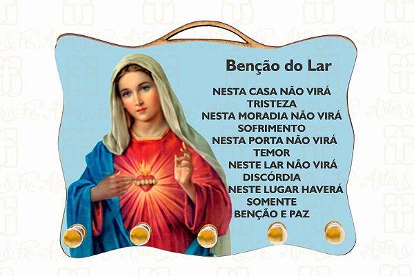 Porta Chaves Sagrado Coração de Maria