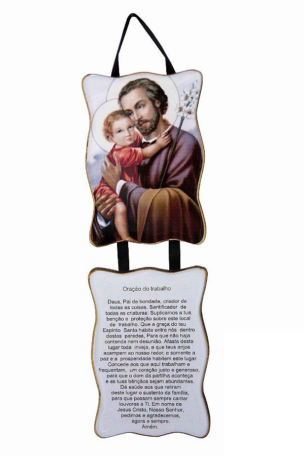 Adorno São José com Oração