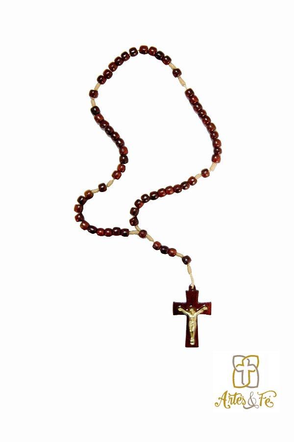 Terço com Cristo na Cruz Pequeno