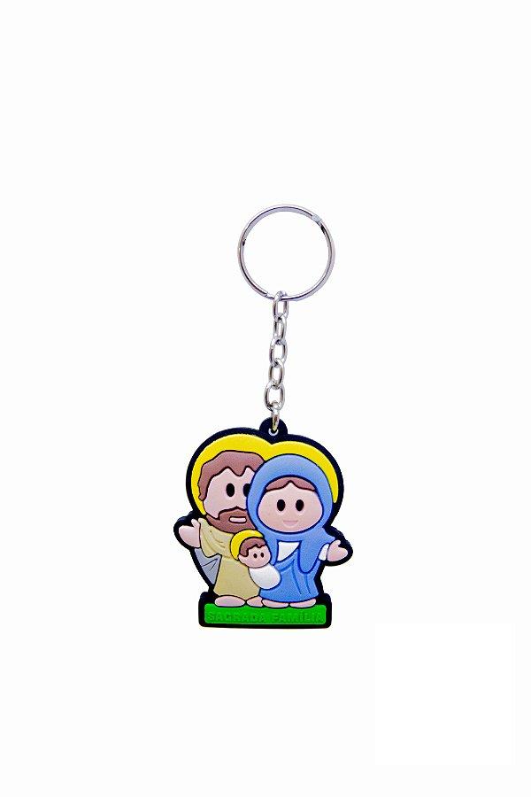 Chaveiro Infantil Emborrachado Sagrada Família