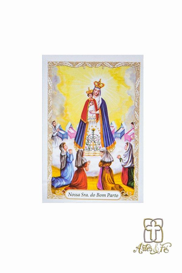 Santinho com oração Nossa Senhora do Bom Parto - Pacote c/100