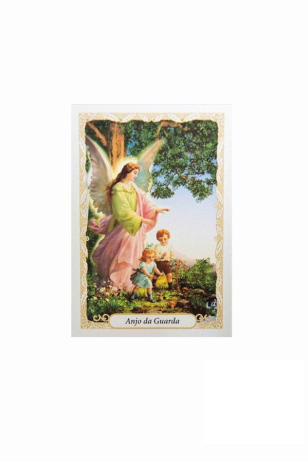 Santinho com oração Anjo da Guarda - Pacote c/100