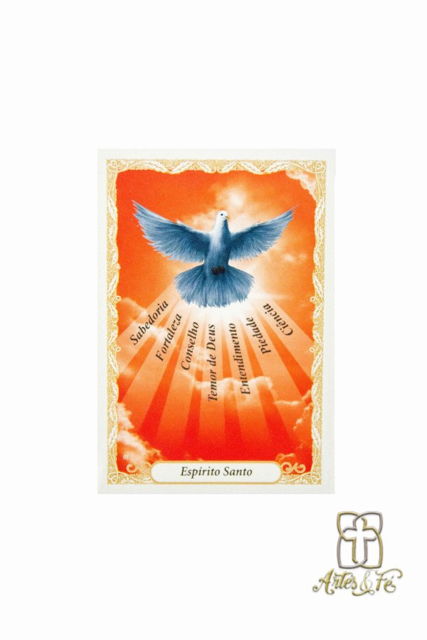 Santinho com oração Espírito Santo - Pacote c/100