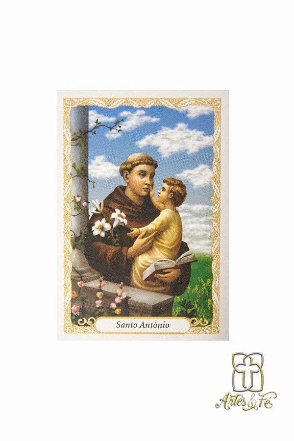 Santinho com oração Santo Antonio - Pacote c/100