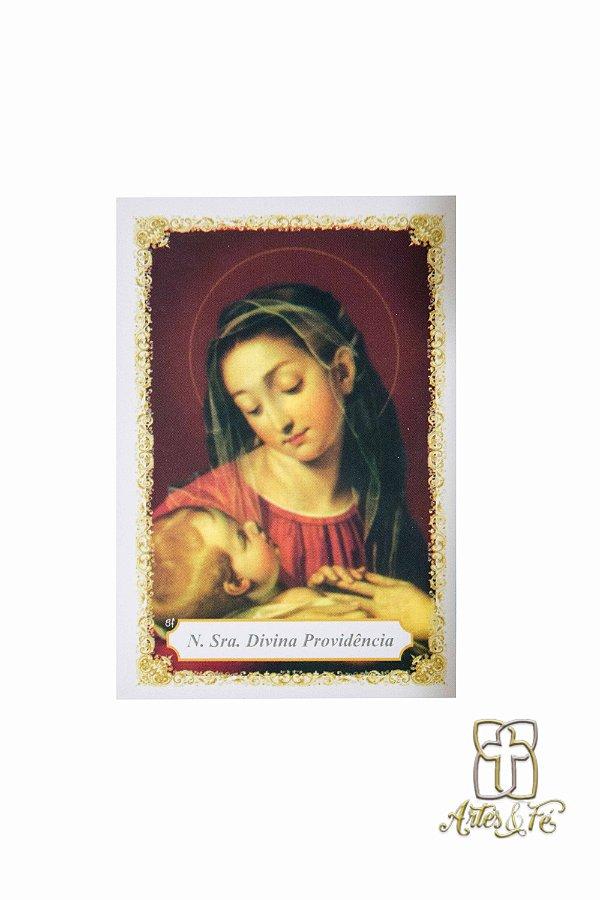 Santinho com oração Nossa Senhora da Divina Providência - Pacote c/100