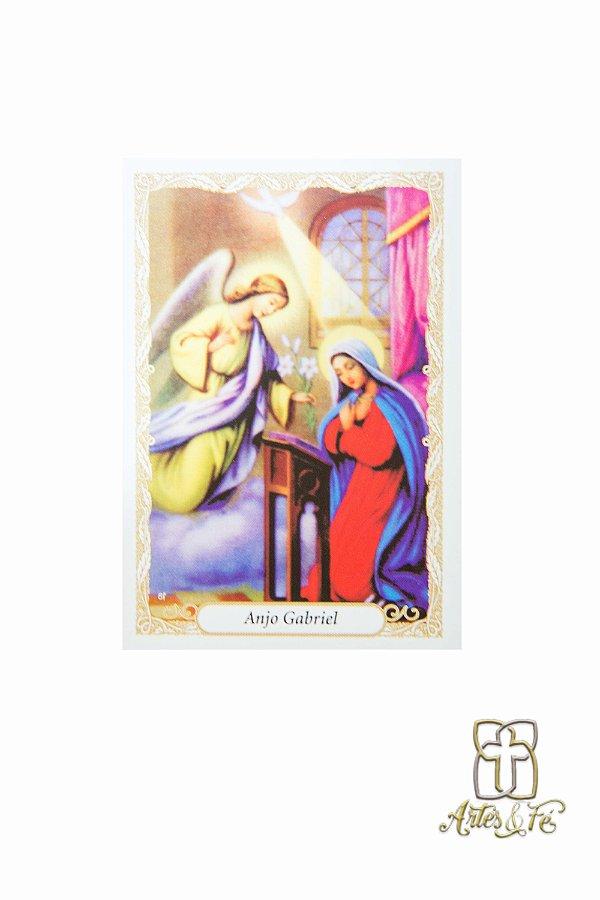 Santinho com oração Anjo Gabriel - Pacote c/100