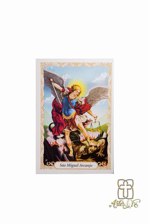 Santinho com oração São Miguel Arcanjo - Pacote c/100