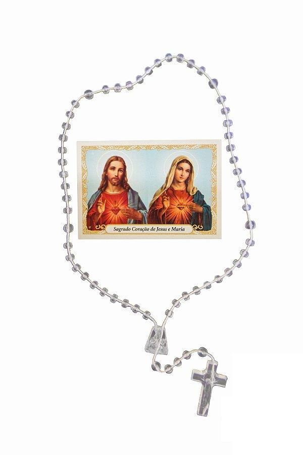 Terço com oração - Sagrado Coração de Jesus e Maria