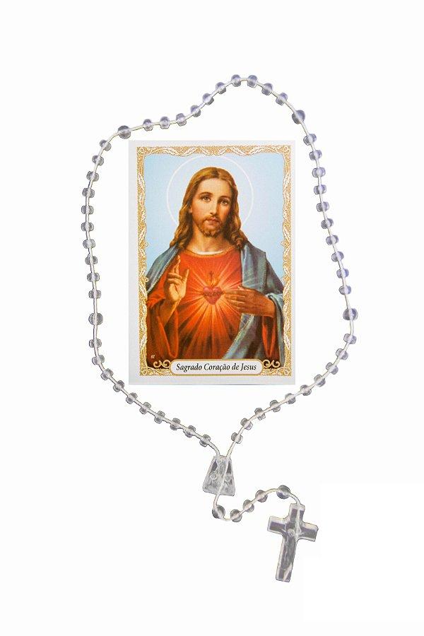 Terço com oração - Sagrado Coração de Jesus