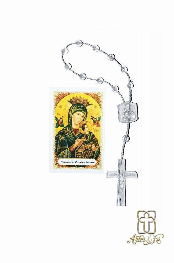Dezena com oração mini -  N.S. do Perpétuo Socorro