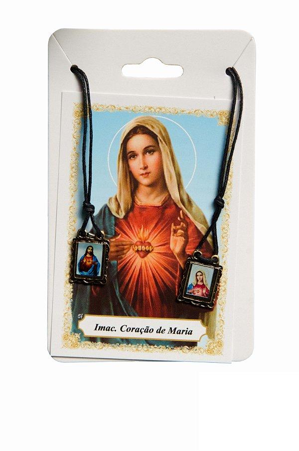 Escapulário Sagrado Coração de Jesus e Sagrado Coração de Maria