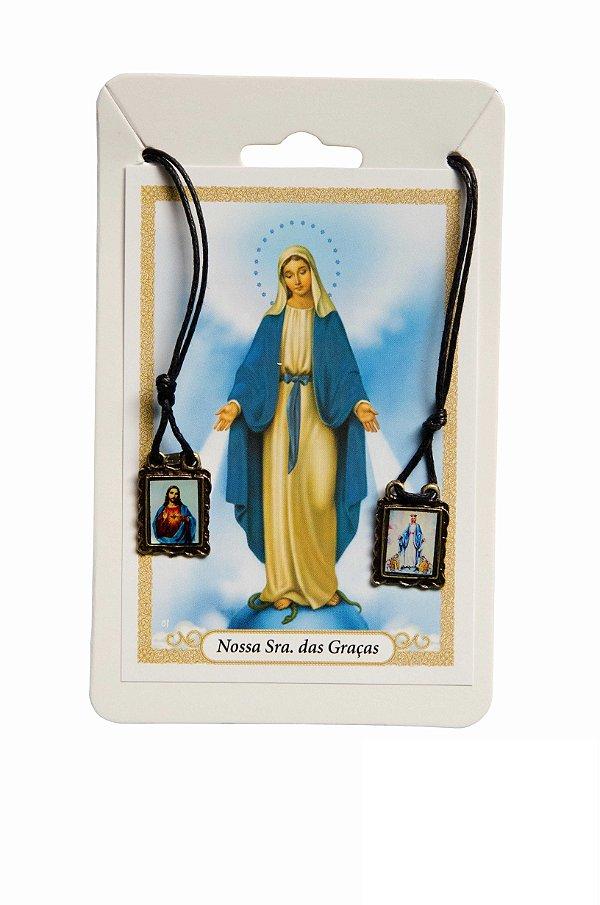 Escapulário Sagrado Coração de Jesus e Nossa Senhora das Graças