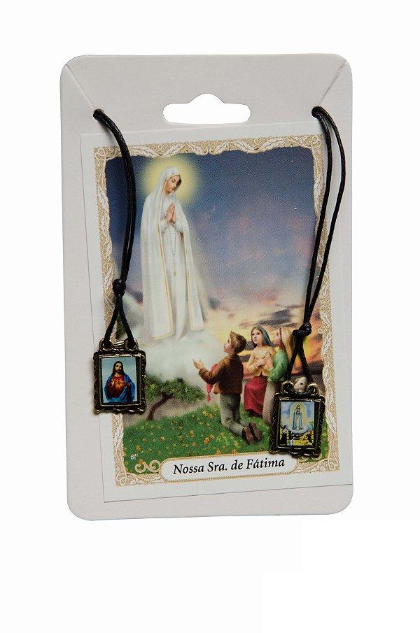Escapulário Sagrado Coração de Jesus e Nossa Senhora de Fátima