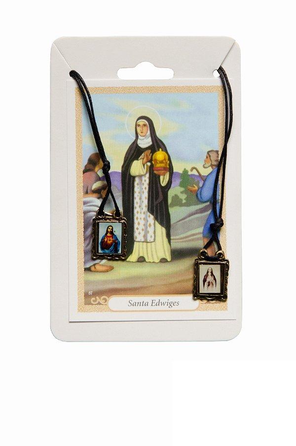 Escapulário Sagrado Coração de Jesus e Santa Edwiges