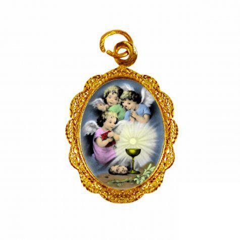 Medalha Anjinhos Eucaristia