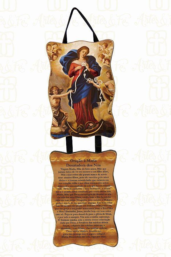 Adorno Nossa Senhora Desatadora de Nós com Oração