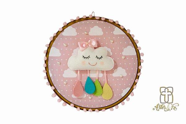 Quadrinho Infantil Nuvem Rosa