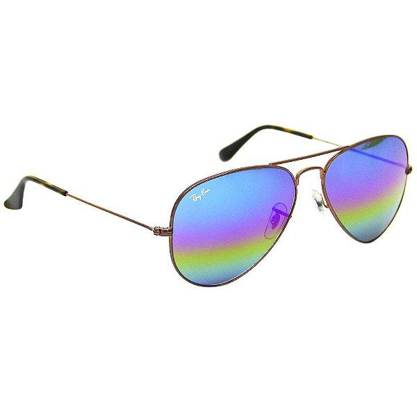 69f1f96fbb99c Óculos de Sol Ray Ban 3025 aviador arco iris 58 - Ótica Realce loja ...