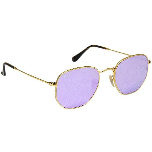 39e87f168fd98 Óculos de sol Ray-Ban RB 3548 Hexagonal lilas - Ótica Realce loja ...