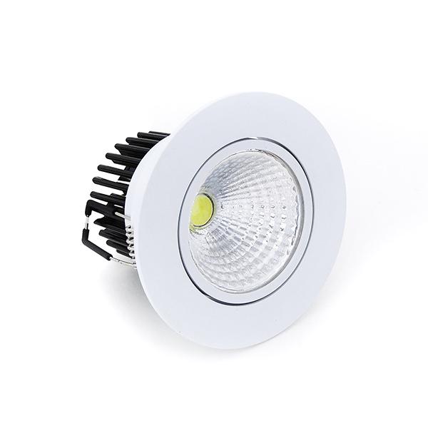 Spot LED 7W Redondo de Embutir Direcionável Branco Frio