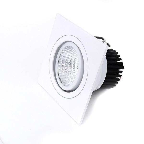Spot LED 12W Quadrado de Embutir Direcionável Branco Frio