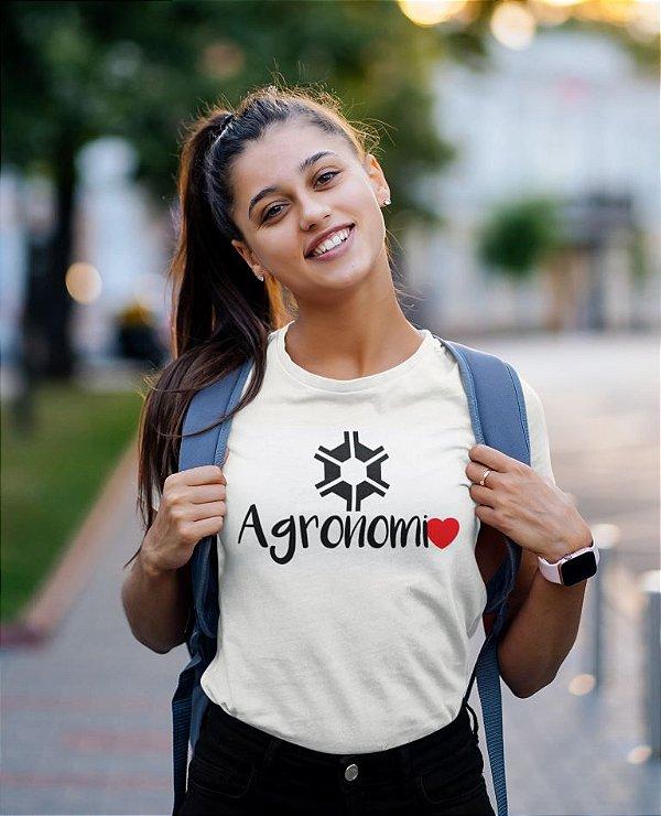 T-SHIRTS FEMININA AGRONOMIA LOGO CORAÇÃO