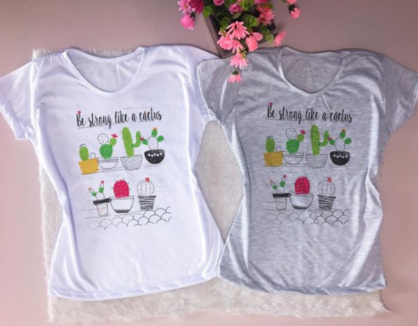 T- SHIRT - BE STRONG LIKE A CACTUS