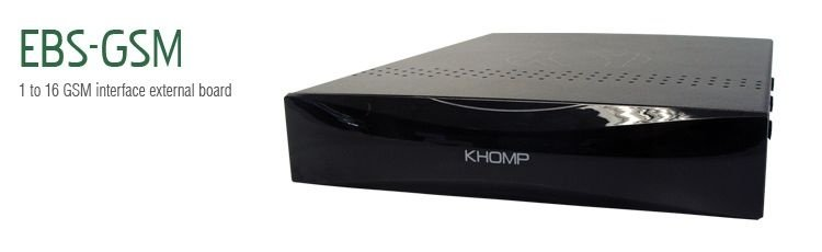 Interface VoIP Khomp EBS GSM 100 (EBS-GSM-100)
