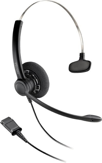 Headset Monoauricular Plantronics SP11-QD c/ conector QD QuickDisconnect