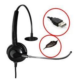 Headset Monoauricular Phonetech USB c/ botões de mute e volume (A20USBM)