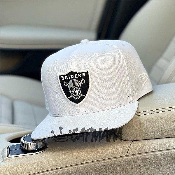 Cap Oakland Raiders Crown Checked White Snapback Aba Reta