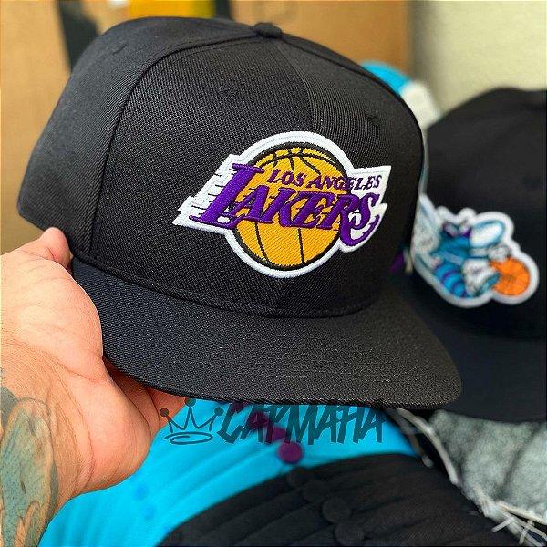 Cap Los Angeles Lakers Classic Black Snapback Aba Reta