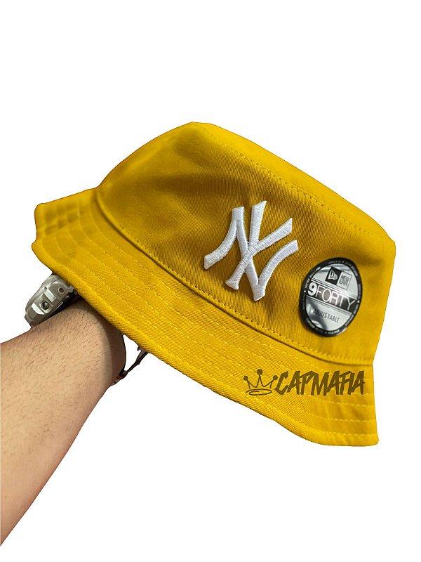 Bucket Hat New Era New York Yankees Mustard White