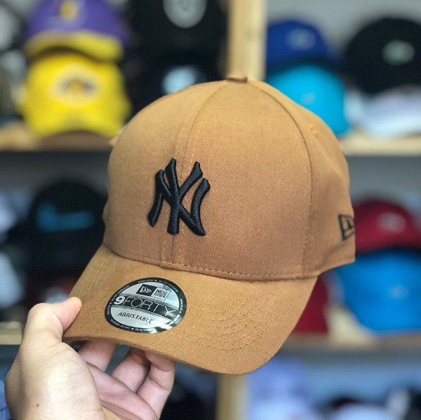Cap New Era New York Yankees Land Black Strapback Aba Curva