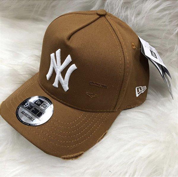 Cap New Era New York Yankees Destroyed Land White Strapback Aba Curva