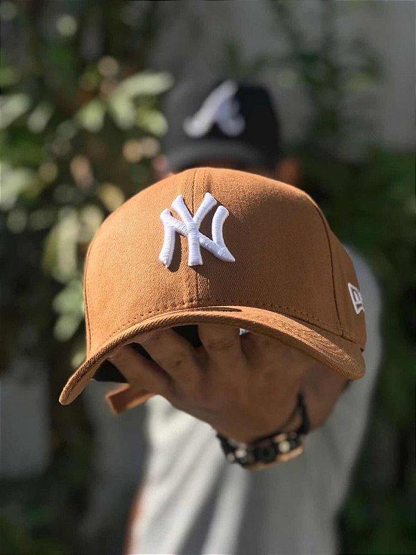 Cap New Era New York Yankees Land White Strapback Aba Curva